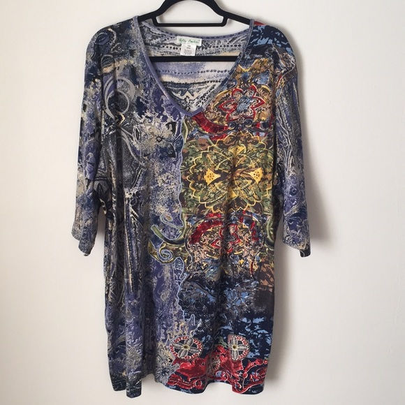 e2b003decb8 🌻ULLA POPKEN Multicolored Long T-Shirt